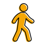 Pedestrian in a motor vehicle accident